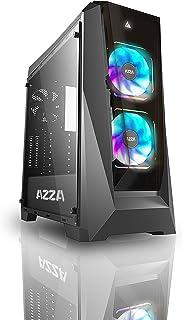 Azza CSAZ-410B Chroma MID-Tower PC CASE, W/2x120mm Prisma Digital RGB Fans, black