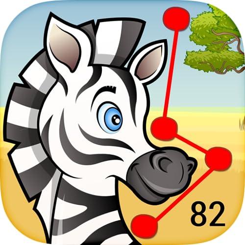 Kind Verbinde die Punkte Tiere - Lernspiel für Vorschulkindern; spielen und lernen Alphabete und Nummern