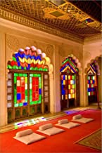 Stained Glass Windows of Fort Palace, Jodhpur at Fort Mehrangarh, Rajasthan, India by Bill Bachmann/Danita Delimont Laminated Art Print, 35 x 52 inches