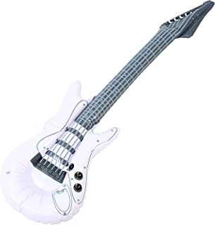 white blow up guitar