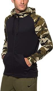 Men's Dry Full Zip Camo Dri Fit Training Fleece Hoodie Sweatshirt