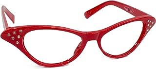 Hip Hop 50s Shop Kids Cat Eye Glasses (Child/Youth, Red)