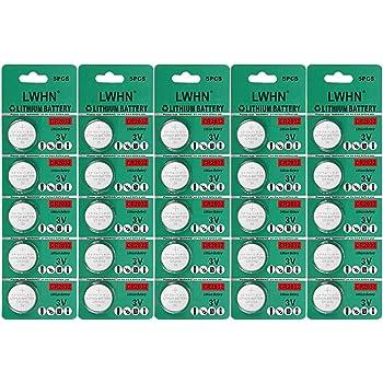 25 Pack Bateria CR2032 De litio 3V CR2032: Amazon.es: Electrónica