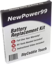 Battery Kit for SkyCaddie Touch with Video, Tools, and Extended Life Battery from NewPower99