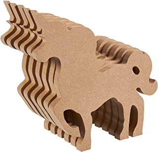 Unfinished Wood Cutout - 6-Pack Unicorn Shaped Wood Pieces for Wooden Craft DIY Projects, Home Decoration, 7.5 x 0.7 x 6.7 inches