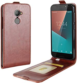 Vodafone smart N8 Case,Premium PU Leather Flip Folio Wallet Case with Card Slot,Stand Holder and Magnetic Closure [TPU Sho...