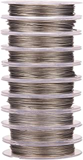 Pandahall 10 Rolls 0.38mm Stainless Steel Color Steel Tiger Tail Beading Wire, about 10m/roll