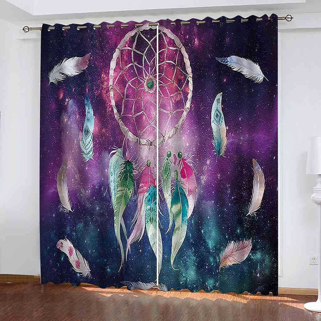 BXXYXH Blackout Curtain for Ranking TOP13 Bedroom 3D Popular brand in the world 300X270Cm Printing Purp -