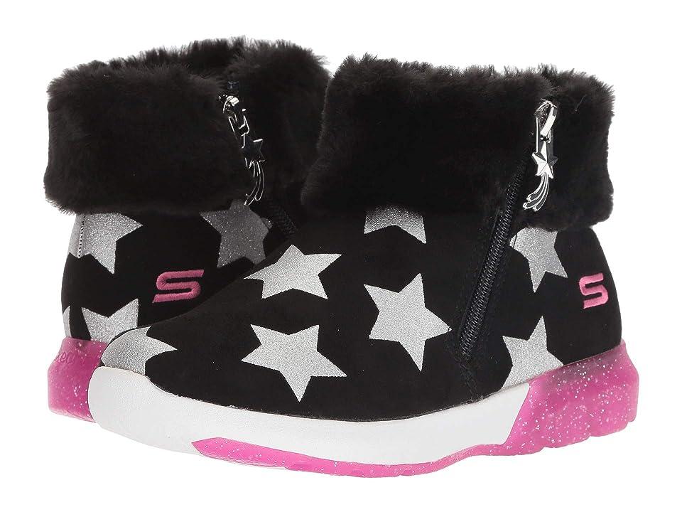 SKECHERS KIDS Shimmer Lights 10975L Lights (Little Kid/Big Kid) (Black/Hot Pink) Girl