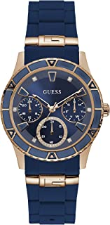 GUESS Womens Quartz Watch, Analog Display and Silicone Strap - W1157L3