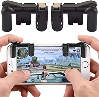 HONTECH 1 pair Mobile Game Fire Button Aim Key Joystick Smartphone Tablet Gaming Knives Out Rules of Survival Game Trigger Button L1/R1 Shooter Controller PUBG