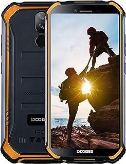 DOOGEE S40 Dual SIM 4G Movil Todoterreno Android 9.0 Telefonos Moviles Libres Antigolpes IP68/IP69K Impermeable 3GB+32GB 4650mAh 5.5 Cámara 8MP+5MP NFC Huella Dactilar Desbloqueo Facial - Naranja