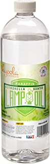 Citronella Lamp Oil, 32 Ounces - Smokeless Insect and Mosquito Repellent Scented Paraffin Fluid for Indoor ...