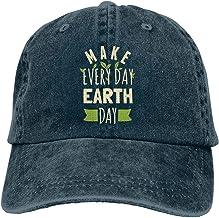 XBFHG Gorra de Mezclilla de algodón Gorra de béisbol Hacer Todos los días Día de la Tierra Seis Paneles Ajustable Trucker Dad Hat NavyUn tamaño