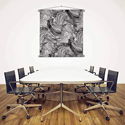 ArtzFolio Abstract Artwork D53 Satin Fabric Painting Tapestry Scroll Art Hanging 30inch x 30inch (76.2cms x 76.2cms)