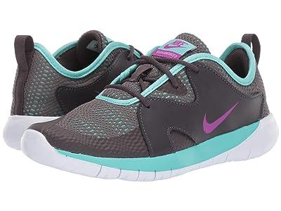 Nike Kids Flex Contact 3 (Big Kid) (Thunder Grey/Hyper Violet/Aurora Green) Kids Shoes