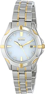 Citizen Eco-Drive Women's Two Tone Watch with Diamond Accents