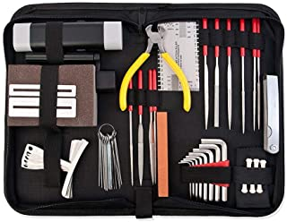 Pro Full Set Musicians Guitar Care Kit Repair Maintenance Tech Tools With Bag