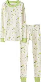 Moon and Back by Hanna Andersson Organic Cotton Long-Sleeve Top and Bottom Pajama Set Unisex niños, Pack de 2