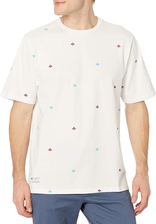 LRG Men's Spring 2021 Striped-Solid Knit Crew T-Shirt