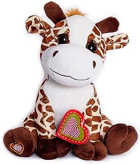 My Baby's Heartbeat Bear -Giraffe Stuffed Animal w/ 20 sec Voice Recorder - Giraffe