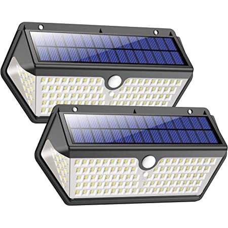 2PC Solar Powered Wall Sensor 6 LED Light For Fence Outdoor Garden Yard Driveway