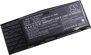 vhbw Li-Ion batería 6600mAh (10.8V) Negro para Ordenador portátil Laptop Notebook DELL Alienware M17x R3, M17x R3-3D, M17x R4