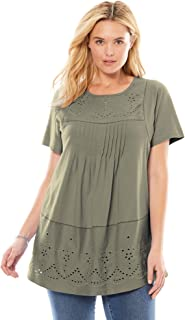 Best plus size embroidered tunic Reviews