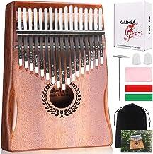 Kalimba 17 Keys Thumb Piano، آسان برای یادگیری هدایا ابزار موسیقی قابل حمل برای کودکان و نوجوانان مبتدیان بزرگسال با تنظیم چکش و آموزش مطالعه. شناخته شده به عنوان Mbira، Wood Piano پیانو