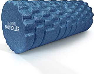 The Original Body Roller - High Density Foam Roller Massager for Deep Tissue Massage of TheBack and Leg Muscles - Self Myofascial Release of Painful Trigger Point Muscle Adhesions