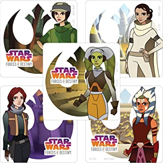 SmileMakers Star Wars Forces of Destiny Stickers - Prizes 100 per Pack
