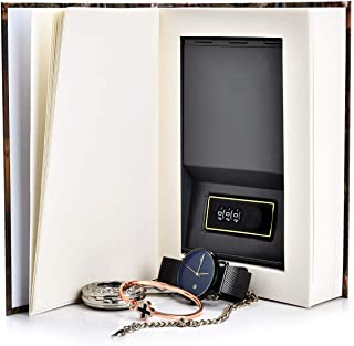 Real Pages Portable Secret Book Hidden Safe with Combination Lock - Hollowed Out Book with Hidden Compartment for Jewelry,...