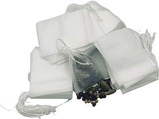 اكياس التوابل والشاي الفارغة لاستعمالها كأكياس الحساء والطهي عدد 100 بمقاس 5.5×7 سم و10×15 سم 5.5*7cm