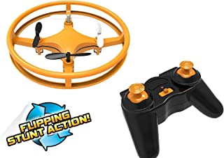 Mindscope Sky Lighter Disc Drone Orange Light Up LED Glow Stunt Action Radio Control RC Technology