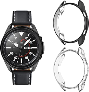 2 Pack Case for Samsung Galaxy Watch 3 45mm, Haojavo Hard PC Protector Slim Shock-Proof Cover All-Around Protective Bumper...