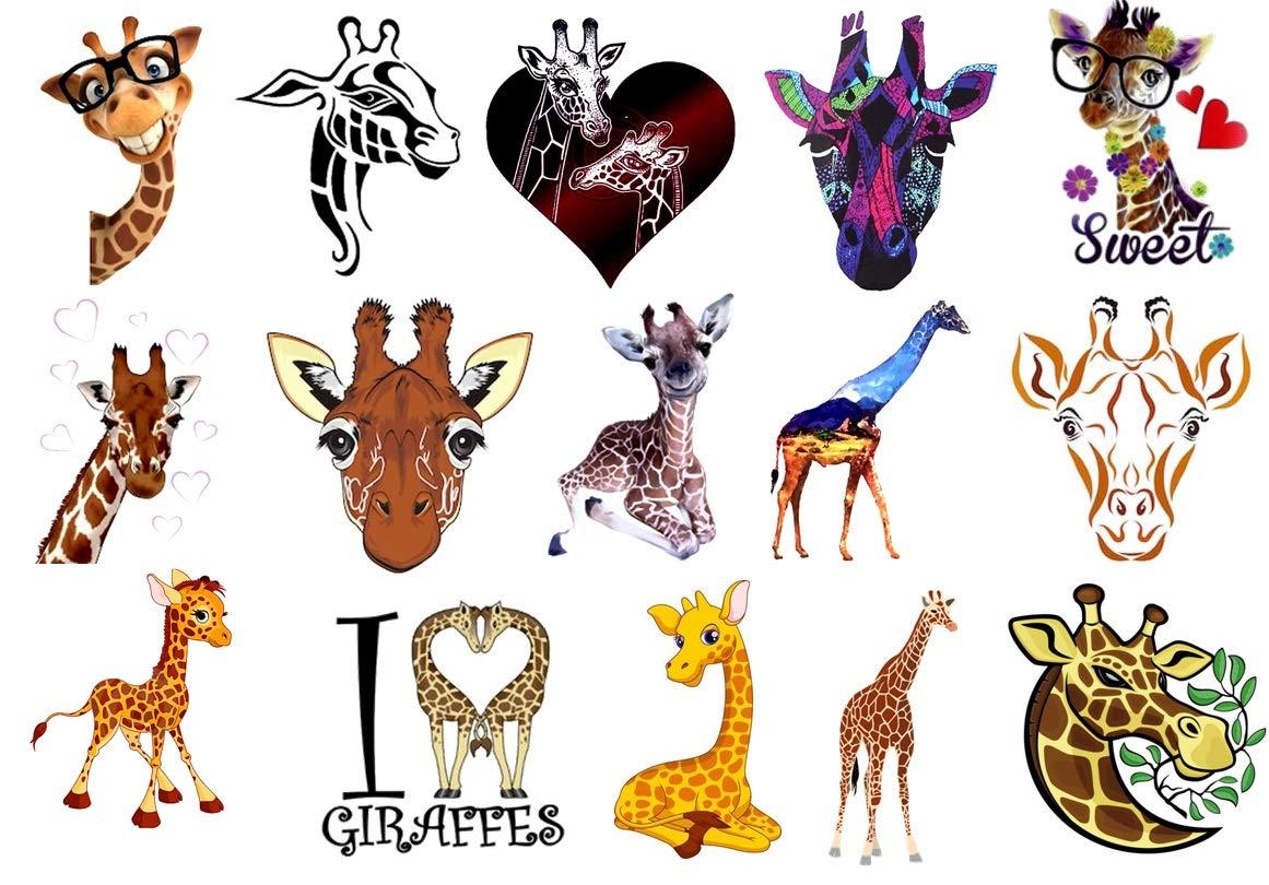 24. Giraffe Temporary Tattoos