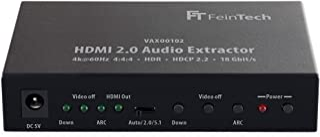FeinTech VAX00102 Extractor de audio HDMI 2.0, ARC 4K HDR Negro