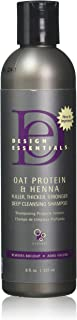Design Essentials Oat Protein & Henna Deep Cleansing Shampoo For Fuller, Thicker,..