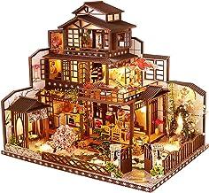 Arkitektonisk modell byggnadskit med möbler, LED-musiklåda, miniatyr trä dollhus, gamla måne huvudserier, 3D pussel utmaning