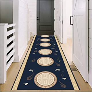 Runner Rug for Hallway, 3D Non Slip Entryway Carpet, Very Long Durable Kitchen Hall Front Door Mat, 0.6cm Thick Pile, 70c...