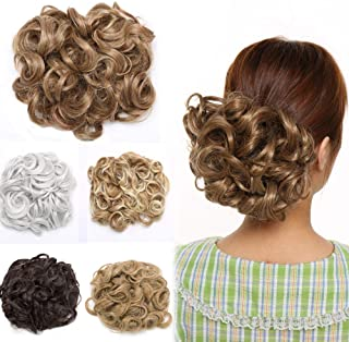 Curly Combs Hair Bun Extensions Stretch Chignon Updo Hairpiece Versatile Hair Band Highlight