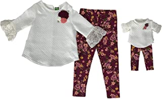Dollie & Me Girls' Legging Set and Matching Doll Outfit