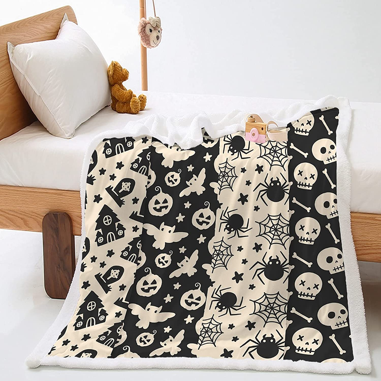 Guiihua Fashion Halloween Theme Blanket Bed Thicker Genuine Free Shipping Max 49% OFF Sheet Winter