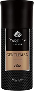 Yardley Gentleman Elite Body Spray, For fiercely independent man, sandalwood, dry amber and Patchouli, 150 ml