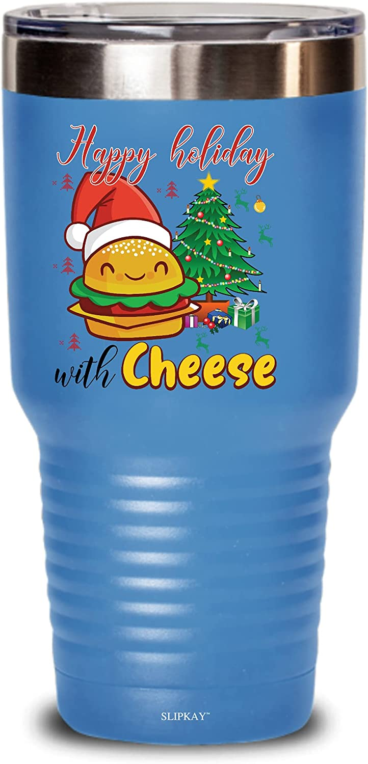 Happy Soldering Holidays With Cheese Christmas G Max 45% OFF 30oz Cheeseburger Tumbler