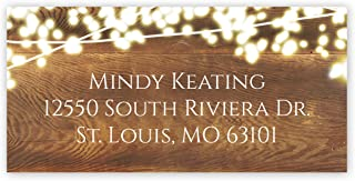 Rustic Lights Self-Adhesive, Rectangle Address Labels - Personalized - Minimum Quantity 96
