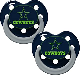 NFL Football Team Logo Baby Infant Glow In The Dark Pacifier 2-Pack (Dallas Cowboys)