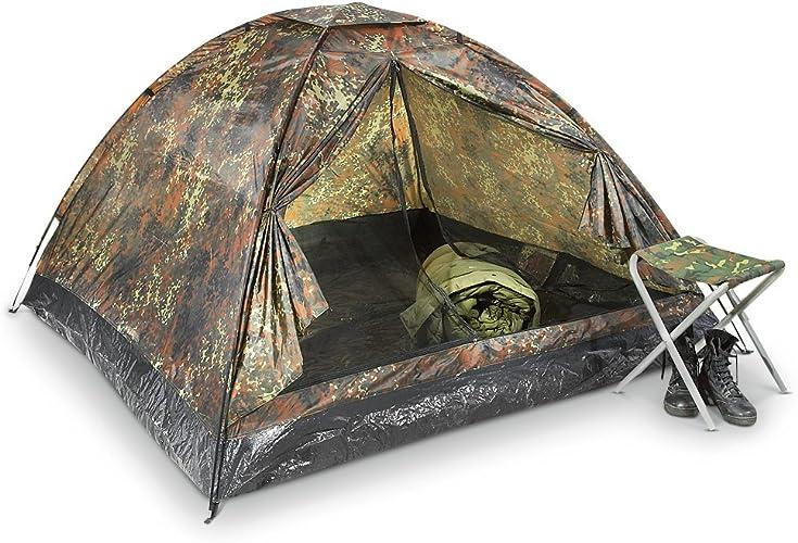 Mil-Tec 3-Man Flecktarn Nylon Tent by Unknown