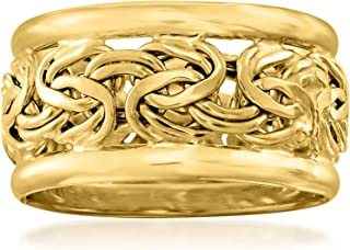 Ross-Simons 18kt Yellow Gold Wide Byzantine Ring