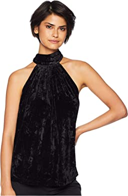 Mayfair Velvet Tie Neck Top